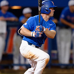 University of Florida Gators infielder Deacon Liput singles as the University of Florida Gators defeat the Wake Forest Demon Deacons 3-0 during Game 3 of the 2017 NCAA Super Regionals at McKethan Stadium.  June 12th, 2017. Gator Country photo by David Bowie.