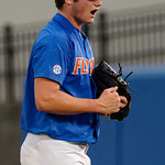 University of Florida Gators pitcher Tyler Dyson celebrates as the University of Florida Gators defeat the Wake Forest Demon Deacons 3-0 during Game 3 of the 2017 NCAA Super Regionals at McKethan Stadium.  June 12th, 2017. Gator Country photo by David Bowie.