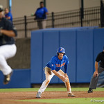 University of Florida Gators infielder Dalton Guthrie leads off of first base as the University of Florida Gators defeat the Wake Forest Demon Deacons 3-0 during Game 3 of the 2017 NCAA Super Regionals at McKethan Stadium.  June 12th, 2017. Gator Country photo by David Bowie.
