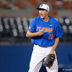 University of Florida Gators pitcher Alex Faedo celebrates as the University of Florida Gators defeat the Wake Forest Demon Deacons 3-0 during Game 3 of the 2017 NCAA Super Regionals at McKethan Stadium.  June 12th, 2017. Gator Country photo by David Bowie.
