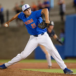University of Florida Gators pitcher Alex Faedo pitching as the University of Florida Gators defeat the Wake Forest Demon Deacons 3-0 during Game 3 of the 2017 NCAA Super Regionals at McKethan Stadium.  June 12th, 2017. Gator Country photo by David Bowie.