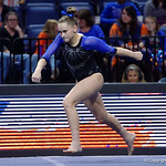 University of Florida Gators gymnast Rachel Gowey performing her floor routine as the Gators defeat the University of Georgia Bulldogs at the Stephen C. O'Connell Center.  February 10th, 2016. Gator Country photo by David Bowie.