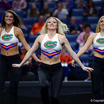 The University of Florida Gators Dazzlers perform before the match as the Gators defeat the University of Georgia Bulldogs at the Stephen C. O'Connell Center.  February 10th, 2016. Gator Country photo by David Bowie.
