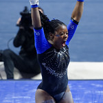 University of Florida Gators gymnast Alicia Boren performing on the vault as the Gators defeat the University of Georgia Bulldogs at the Stephen C. O'Connell Center.  February 10th, 2016. Gator Country photo by David Bowie.