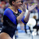 University of Florida Gators gymnast Amelia Hundley performing on the beam as the Gators defeat the University of Georgia Bulldogs at the Stephen C. O'Connell Center.  February 10th, 2016. Gator Country photo by David Bowie.