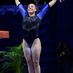 University of Florida Gators gymnast Amelia Hundley performing on the vault as the Gators defeat the University of Georgia Bulldogs at the Stephen C. O'Connell Center.  February 10th, 2016. Gator Country photo by David Bowie.