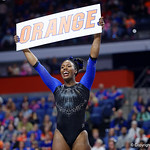 University of Florida Gators gymnast Sierra Alexander as the Gators defeat the University of Georgia Bulldogs at the Stephen C. O'Connell Center.  February 10th, 2016. Gator Country photo by David Bowie.