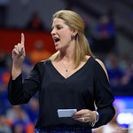 University of Florida Gators gymnastics head coach Jenny Rowland as the Gators defeat the University of Georgia Bulldogs at the Stephen C. O'Connell Center.  February 10th, 2016. Gator Country photo by David Bowie.