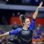 University of Florida Gators gymnast Rachel Slocum performing her floor routine as the Gators defeat the University of Georgia Bulldogs at the Stephen C. O'Connell Center.  February 10th, 2016. Gator Country photo by David Bowie.