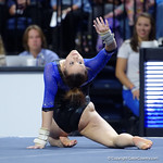 University of Florida Gators gymnast Grace McLaughlin performing her floor routine as the Gators defeat the University of Georgia Bulldogs at the Stephen C. O'Connell Center.  February 10th, 2016. Gator Country photo by David Bowie.