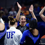 University of Florida Gators gymnast Rachel Slocum performing on the vault as the Gators defeat the University of Georgia Bulldogs at the Stephen C. O'Connell Center.  February 10th, 2016. Gator Country photo by David Bowie.