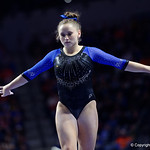 University of Florida Gators gymnast Rachel Gowey performing on the beam as the Gators defeat the University of Georgia Bulldogs at the Stephen C. O'Connell Center.  February 10th, 2016. Gator Country photo by David Bowie.