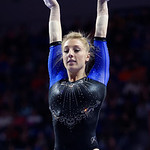 University of Florida Gators gymnast Alex McMurtry performing on the beam as the Gators defeat the University of Georgia Bulldogs at the Stephen C. O'Connell Center.  February 10th, 2016. Gator Country photo by David Bowie.