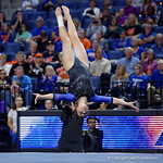 University of Florida Gators gymnast Amelia Hundley performing her floor routine as the Gators defeat the University of Georgia Bulldogs at the Stephen C. O'Connell Center.  February 10th, 2016. Gator Country photo by David Bowie.
