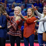 Former Florida Gator Gymnastics alumni are honored before the match as the Gators defeat the University of Georgia Bulldogs at the Stephen C. O'Connell Center.  February 10th, 2016. Gator Country photo by David Bowie.