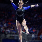 University of Florida Gators gymnast Amanda Cheney performing on the beam as the Gators defeat the University of Georgia Bulldogs at the Stephen C. O'Connell Center.  February 10th, 2016. Gator Country photo by David Bowie.