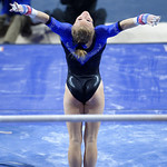 University of Florida Gators gymnast Alex McMurtry performing on the uneven bars as the Gators defeat the University of Georgia Bulldogs at the Stephen C. O'Connell Center.  February 10th, 2016. Gator Country photo by David Bowie.