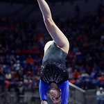 University of Florida Gators gymnast Grace McLaughlin performing on the beam as the Gators defeat the University of Georgia Bulldogs at the Stephen C. O'Connell Center.  February 10th, 2016. Gator Country photo by David Bowie.