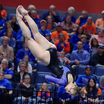 University of Florida Gators gymnast Claire Boyce performing her floor routine as the Gators defeat the University of Georgia Bulldogs at the Stephen C. O'Connell Center.  February 10th, 2016. Gator Country photo by David Bowie.