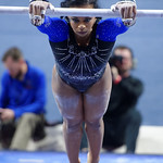 University of Florida Gators gymnast Kennedy Baker performing on the vault as the Gators defeat the University of Georgia Bulldogs at the Stephen C. O'Connell Center.  February 10th, 2016. Gator Country photo by David Bowie.