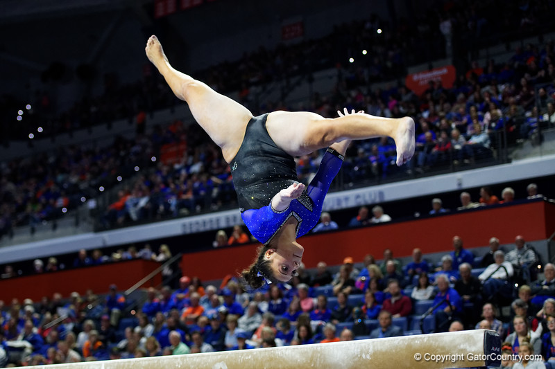 Florida Gators gymnist Amelia Hundley as the #2 Gators faced #4 Denver and #18 Iowa State at the Stephen C. O'Connell Center in Gainesville, Florida on February 7th, 2020 (Photo by David Bowie/Gatorcountry)