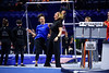 Florida Gators Gymnastics Head Coach Jenny Rowland dancing with Rachel Slocum as the #2 Gators faced #4 Denver and #18 Iowa State at the Stephen C. O'Connell Center in Gainesville, Florida on February 7th, 2020 (Photo by David Bowie/Gatorcountry)