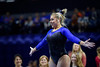 Florida Gators gymnist Sydney Johnson-Scharpf performs her floor routine as the #2 Gators faced #4 Denver and #18 Iowa State at the Stephen C. O'Connell Center in Gainesville, Florida on February 7th, 2020 (Photo by David Bowie/Gatorcountry)