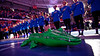 The Florida Gators during gymnist introductions as the #2 Gators faced #4 Denver and #18 Iowa State at the Stephen C. O'Connell Center in Gainesville, Florida on February 7th, 2020 (Photo by David Bowie/Gatorcountry)
