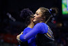 Florida Gators gymnist Trinity Thomas and Florida Gators gymnist Savannah Schoenherr as the #2 Gators faced #4 Denver and #18 Iowa State at the Stephen C. O'Connell Center in Gainesville, Florida on February 7th, 2020 (Photo by David Bowie/Gatorcountry)