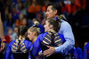 Florida Gators gymnist Payton Richards and Florida Gators Gymnastics Assistant Coach Adrian Burde as the #2 Gators faced #4 Denver and #18 Iowa State at the Stephen C. O'Connell Center in Gainesville, Florida on February 7th, 2020 (Photo by David Bowie/Gatorcountry)