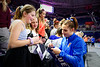 Florida Gators gymnist Halley Taylor signs autographs for the kids as the #2 Gators faced #4 Denver and #18 Iowa State at the Stephen C. O'Connell Center in Gainesville, Florida on February 7th, 2020 (Photo by David Bowie/Gatorcountry)