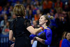 Florida Gators gymnist Payton Richards and Florida Gators Gymnastics Head Coach Jenny Rowland as the #2 Gators faced #4 Denver and #18 Iowa State at the Stephen C. O'Connell Center in Gainesville, Florida on February 7th, 2020 (Photo by David Bowie/Gatorcountry)