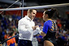 Florida Gators Gymnastics Assistant Coach Owen Field and Florida Gators gymnist Amelia Hundley as the #2 Gators faced #4 Denver and #18 Iowa State at the Stephen C. O'Connell Center in Gainesville, Florida on February 7th, 2020 (Photo by David Bowie/Gatorcountry)