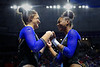 Florida Gators gymnist Savannah Schoenherr and Florida Gators gymnist Trinity Thomas as the #2 Gators faced #4 Denver and #18 Iowa State at the Stephen C. O'Connell Center in Gainesville, Florida on February 7th, 2020 (Photo by David Bowie/Gatorcountry)