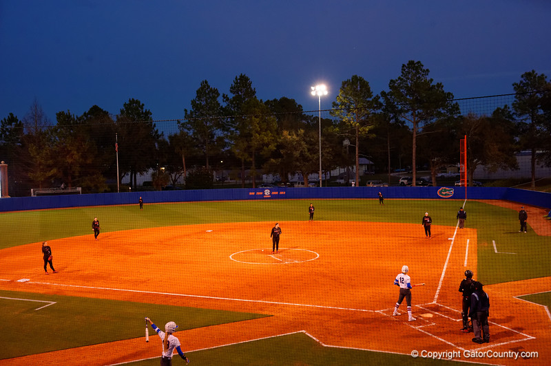 An overview of the field.  Florida Gators vs NC State Wolfpack.  February 13th, 2015. Gator Country photo by David Bowie.