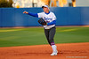 Florida Gators UT Kayli Kvistad takes infield practice prior to the start of the game.  Florida Gators vs NC State Wolfpack.  February 13th, 2015. Gator Country photo by David Bowie.