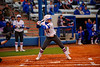 Florida Gators outfielder Kirsti Merritt awaits the pitch during her at bat in the first inning.  Florida Gators vs NC State Wolfpack.  February 13th, 2015. Gator Country photo by David Bowie.