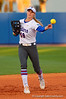 Florida Gators first baseman Taylor Schwarz takes infield practice prior to the start of the game.  Florida Gators vs NC State Wolfpack.  February 13th, 2015. Gator Country photo by David Bowie.