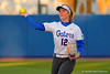 Florida Gators UT Taylore Fuller takes infield practice prior to the start of the game.  Florida Gators vs NC State Wolfpack.  February 13th, 2015. Gator Country photo by David Bowie.