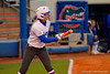 Florida Gators outfielder Kirsti Merritt squares off to show bunt during her at bat in the first inning.  Florida Gators vs NC State Wolfpack.  February 13th, 2015. Gator Country photo by David Bowie.