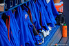 The Florida Gators dugout.  Florida Gators vs NC State Wolfpack.  February 13th, 2015. Gator Country photo by David Bowie.