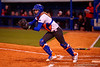 Florida Gators catcher Aubree Munro runs down a NC State runner in the second inning.  Florida Gators vs NC State Wolfpack.  February 13th, 2015. Gator Country photo by David Bowie.