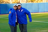 Florida Gators outfielder Kirsti Merritt and Florida Gators outfielder Bailey Castro pose for the camera before the game.  Florida Gators vs NC State Wolfpack.  February 13th, 2015. Gator Country photo by David Bowie.