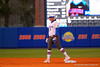 Florida Gators second baseman Kelsey Stewart waits on second base during the first inning.  Florida Gators vs NC State Wolfpack.  February 13th, 2015. Gator Country photo by David Bowie.