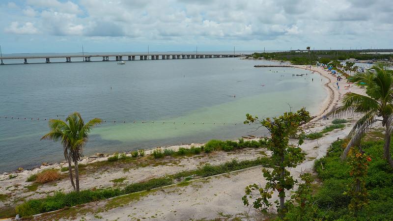 View of Calusa Beach from bridge