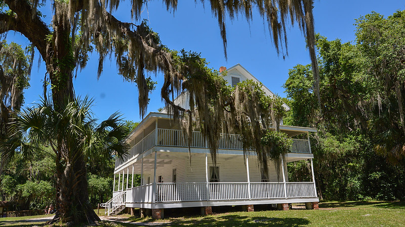 Large historic home with wrap around porches