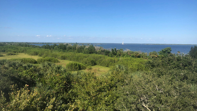 View of marshes and lagoon from tower