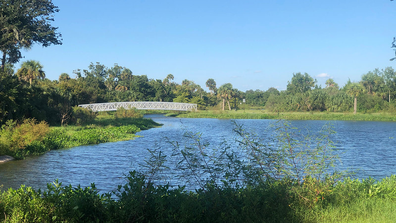 Blue water and bridge