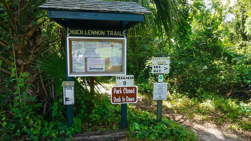 Trailhead for Chuck Lennon Trails