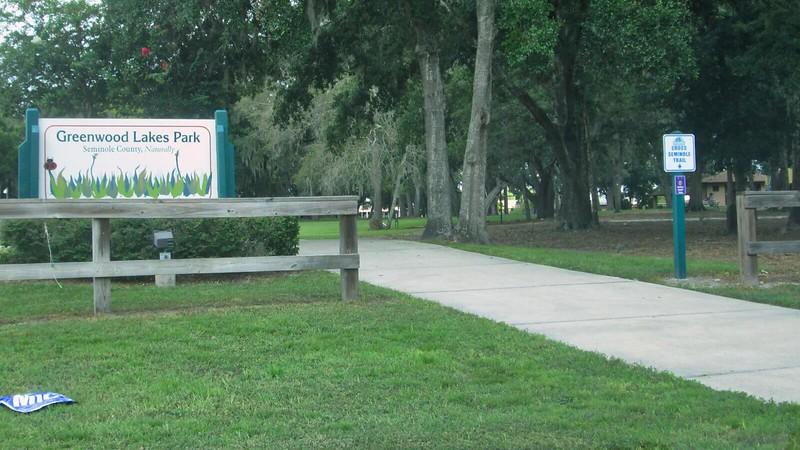 Greenwood Lakes Park entrance